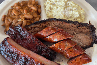 Pflugerville Barbecue 3 Meat Plate
